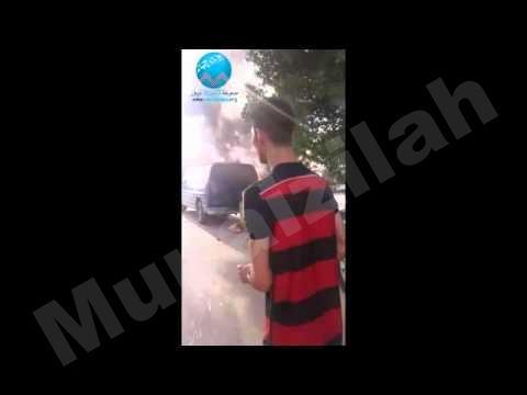 فيديو : احتراق سيارة بالمنيزلة