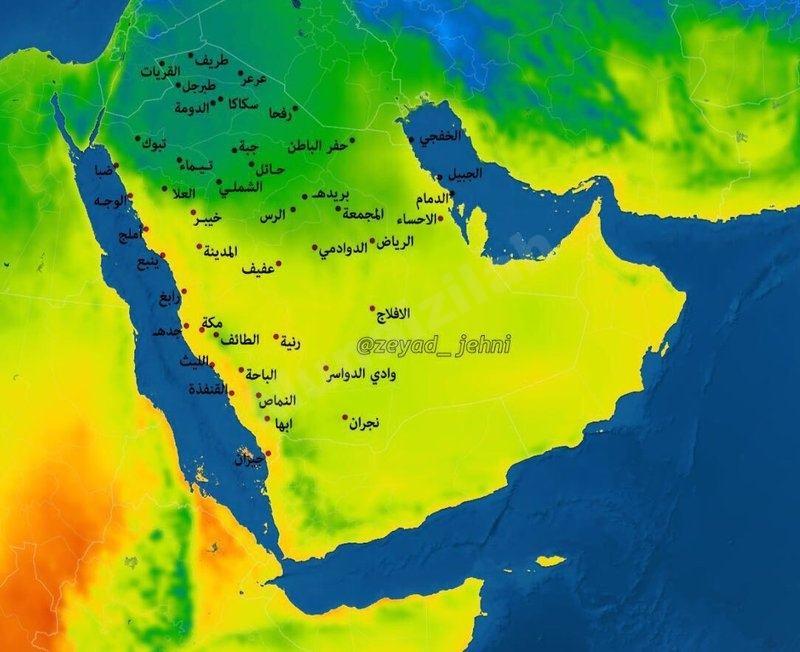 """موجة برد تحطّ بالسعودية الليلة وتستمر 48 ساعة.. """"الجهني"""": جهِّزوا المدافئ"""
