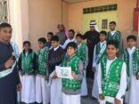 متوسطة الطفيل بن عمرو بالمنيزلة تحتفل بذكرى البيعة الرابعة لخادم الحرمين الشريفين