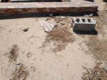 مخلفات ترميم قبور مقبرة المنيزلة تشوه المنظر العام