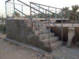 بالصور : جسر المشاه الزراعي الجديد بالمنيزلة .. جاهز للعبور عليه