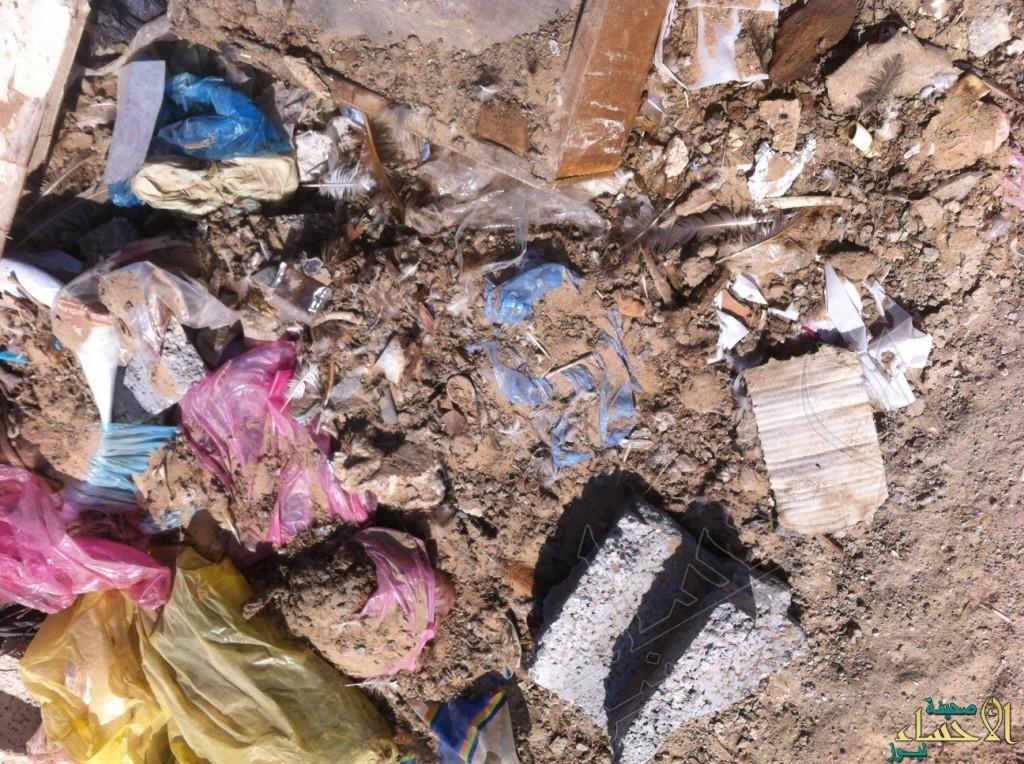 غياب حاويات النفايات بالقرب من مسجد الإمام الرضا (ع)