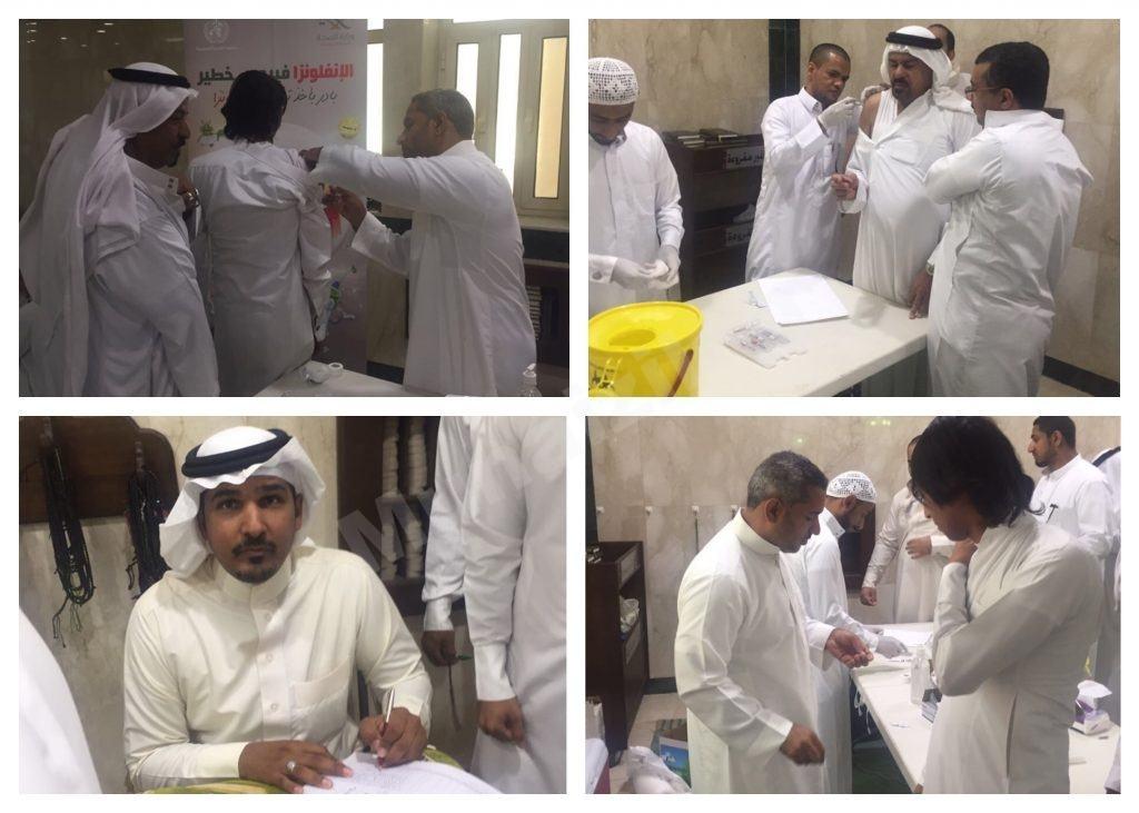 حملة التطعيم ضد الانفلونزا في جوامع المنيزلة