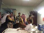 أمير المنطقة الشرقية يطمأن على مصابي الهجوم الإرهابي في مسجد الرضا (ع) بمحاسن