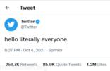 تويتر يفتح حوارا كوميديا مع تطبيقات أخرى بعد تعطل خدمات فيسبوك