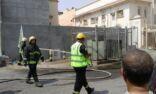 عاجل : نشوب حريق في كبينة توزيع كهرباء في المنيزلة القديمة